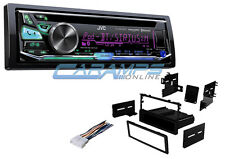 NEW JVC CAR STEREO BLUETOOTH RADIO DECK WITH INSTALLATION DASH KIT & USB/AUX