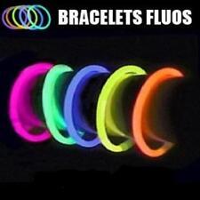 100 bracelets lumineux multicolores chimioluminescents 3 bracelets = 1 collier