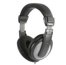 Hama TV Hi-fi Headphones Over Ear Stereo Long Lead 6m Cable/ Volume Control
