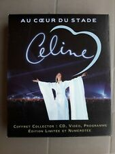 NEUF CELINE DION COFFRET COLLECTOR CD VHS PROGRAMMELUXE AU COEUR DU STADE