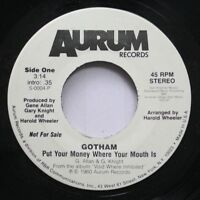 Hear! Modern Soul Promo 45 Gotham - Put Your Money Where You Mouth Is / Same On