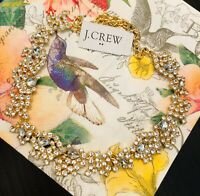 J.Crew Factory DELICATE CRYSTAL STATEMENT NECKLACE! Nwt New$59.50