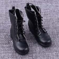 """1 Pair 1:6 Black Martin Boots Military Shoes Model For 12"""" Action Figure Toys"""