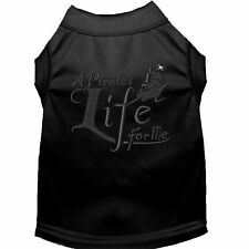 Mirage Pet Products A Pirate's Life Embroidered Dog Shirt Black Lg (14)