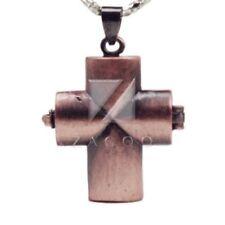 Modeschmuck-Halsketten & -Anhänger für Damen mit Messing-Kreuz-Motiv