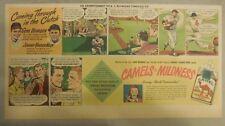 Camel Cigarette Ad: Baseball Gene Bearden & Johnny Vandermeer Third Page Size