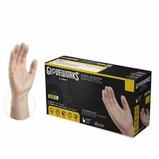 1000/cs GlovePlus IVPF Clear Industrial Latex Free Vinyl Disposable Gloves