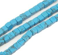90 Türkis Perlen Würfel Blau 3mm Türkisstein Halbedelstein Schmucksteine G593