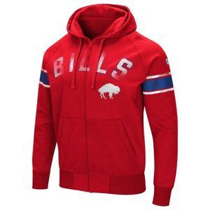 Buffalo Bills Men's Hands High Throwback Arena Full Zip Hooded Sweatshirt