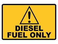 Diesel Fuel Only Sign Custom Metal Sign Durable Aluminum No Rust Garage Dd#281