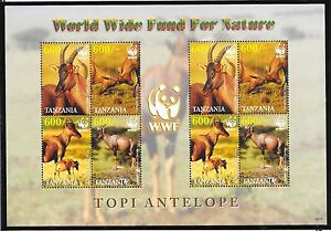 TANZANIA SC 2437a NH MINISHEET of 2006 - WWF - ANIMALS