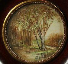Miniature peinture antique miniature paysage peinture Landscape Painting Paysage