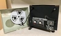 Dejur Eldorado Dual Eight 8mm Film Movie Picture Projector In Case - It Works!