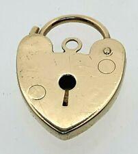 Vintage 9 Carat Yellow Gold Heart Padlock Clasp 1976 1.83 Grams 20.15mm