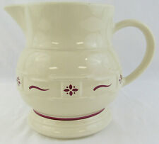 Longaberger Pottery Woven Traditions 'Red' Large Pitcher