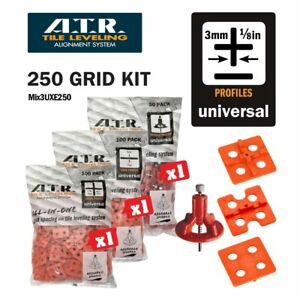 ATR TILE LEVELING SYSTEM Qty 250 PIECES 3mm UNIVERSAL KIT - Tile Level System