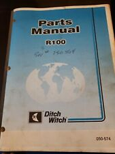 Ditch Witch R100 Amp Vp75 Parts Manuals