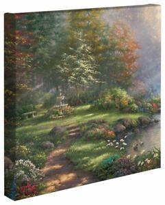 Thomas Kinkade Reflection of Faith 14 x 14 Canvas Wrap