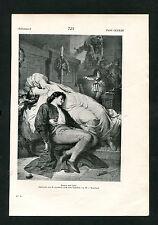 """""""Romeo und Julia"""" - Nach einem Stahlstich von W. Kaulbach  (J-BE3)"""
