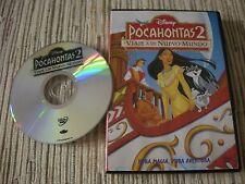 DVD ANIMACIÓN PELÍCULA POCAHONTAS 2 VIAJE A UN NUEVO MUNDO DISNEY-PIXAR USADO