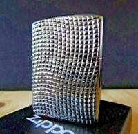 Zippo Windproof ARMOR Lighter Beautiful Wavey Deep Carved Black Ice 2014 NEW