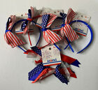 Scunci Headband Scrunching Red White Blue - 4th Of July - Patriotic [5 Total Pc]