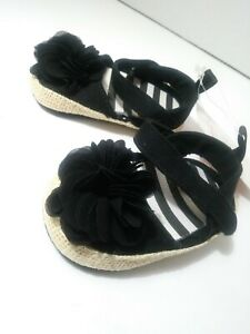 Stepping Stones Black Baby Girl Shoes