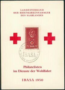 Saarland Mi.-Nr.292 IBASA Tag der Briefmarke 30.4.1950 -Red Cross