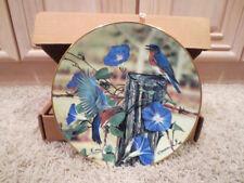 Driscoll Collector Plate Blue Birds