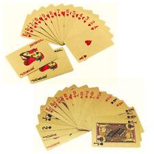 Waterproof Plastic Playing Cards Poker Deck Magic Card Pvc Black Foil Golden Set