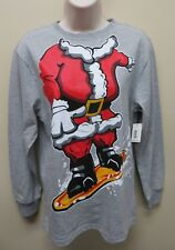 Kids Santa Costume Tee Shirt Santa Body On A Snow Board New With Tags Size XL