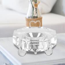 LED Kristal Glassockel Kerzenleuchter Ständer Halter 7 Farben 3D Teelichthalter