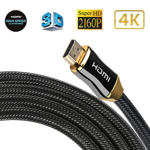 2/3M Premium Ultra HD HDMI Cable v2.0 High Speed Ethernet HDTV 2160p 4K 3D GOLD