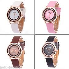 Damen Uhr Armbanduhr Quarzuhr Perlen Roma Analog Lederband Watch 240mm M12881