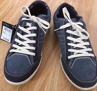 Buy1Get1Free Men LEATHER/DENIM Retro Style Vintage Deck Boat Shoe Navy Wash Size