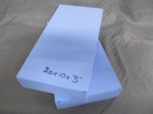 """Pack of 2 Foam Offcuts Good Quality 20 x 10 x 3"""" (509 x 254 x 75mm)"""