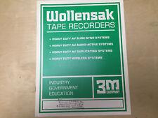 Vtg Wollensak Tape Recorders Catalog 6024AV 6250AV 840 Vega 71/72