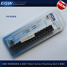 EGW Browning A-Bolt SA Picatinny Rail 0MOA Black #43000 - NEW Weaver Alternative