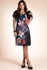 NUOVO con Etichetta M&S Donna da Sera elegante Stampa Floreale Abito Shift 10 RRP £ 39.50