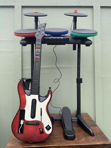 Wii Guitar Hero Warriors of Rock, Band Bundle Guitar Drums and Game