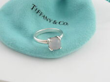 Tiffany & Co Silver Picasso White Quartz Sugar Stack Ring Size 5.5