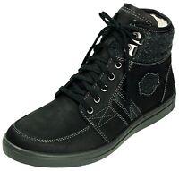 Jomos Stiefel Leder Boots Extra Weit Schuhe schwarz Gr.39-47 321702 518000 Neu24
