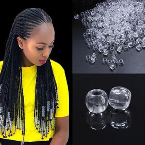 50pcs Resin Hair Beads 6mm Big Hole Dreadlock Beads For Dreadlock Hair Acces UK