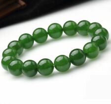 New 6-12mm Natural Round Green Jade Gemstone Beads Stretchy Bangle Bracelet