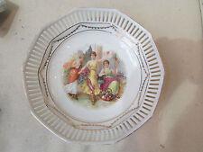 ancienne coupe porcelaine allemande ajourée bavaria schumann elegantes