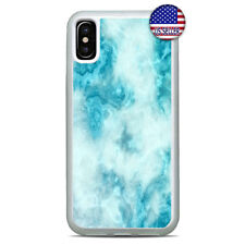 Water Aqua Blue Marbel Stone Case Cover For iPhone 11 Pro Max Xs XR 8 Plus 7