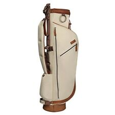GOLFERS TRAVEL BAG - HERITAGE RANGE SUNDAY GOLF BAG + TRAVEL COVER - BEIGE