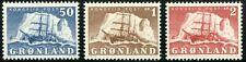 Greenland 1950 Ship in Front of Iceberg Facit 33-35 Mnh (*) Cv$80+ 0D