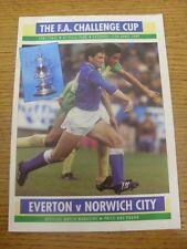 15/04/1989 FA Cup Semi-Final: Everton v Norwich City [At Aston Villa] (folded, t