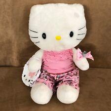 Hello Kitty build a bear white plush clothing print pink purse lot HK stuffed